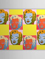 lona estirada arte pop gente, arte-imagen de Marilyn Monroe listo para colgar