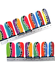 28PCS Full-tip Shoe Nail Art Stickers Decals