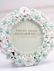 "3""H Modern Style Metal Flowers Picture Frame"