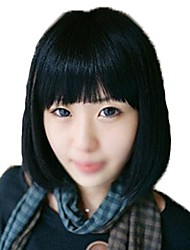 Short Straight Hair Synthetic Side Bang Wigs