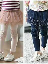 Girl's Leggings,Solid Cotton / Mesh All Seasons