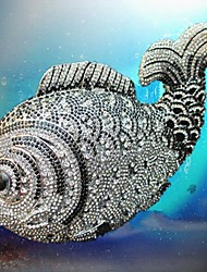 Oltre 3.500 pezzi di cristallo di pesce cristallo di diamante frizione di cerimonia nuziale borsa per le signore