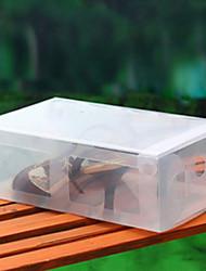 Modern Classic Solid White Color Bins Shape Shoe Box