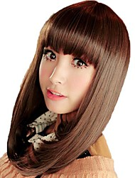 Long Straight Hair Synthetic Full Bang Mainstream Wigs
