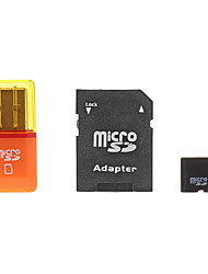 8GB MicroSDHC TF Card with SD SDHC Adapter and USB Card Reader