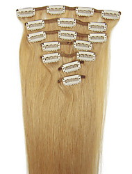 22inch 8pcs/set Indian Clip-in Hair 105g for Full Head(More Colors Available)