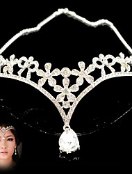 Wedding Bridal bridesmaid Crystal Prom Crown Dangle Forehead Jewelry