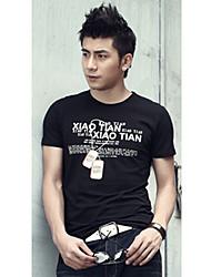D & M Mannen Ketting Zwarte T-shirt
