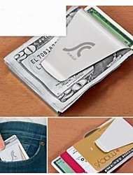 Stainless Steel Dollars Shape of  Money Card Clip
