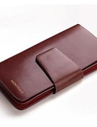 Fashion 3 Fold Long Luxury Leather Men Wallet Brand Cow Skin Handbag Business Men Purse