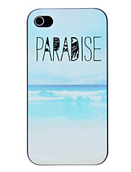 PARADISE Seabeach Patroon PC Hard Case voor iPhone 4/4S