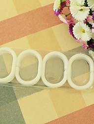C-Shaped Cortina Clipe Ring (3 centímetros de diâmetro) conjunto de 12