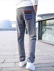 Herrenmode dünne beiläufige Harem Liebhaber lange Trainingshose (Taschen Stiche zufällig)