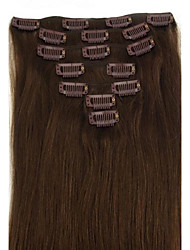 28 Inch 7Pcs 120g Clip in  Human Human Hair Extension Straight Multiple Colors Available Q28120