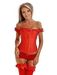 Jacquard Zipper Et lacets Plastique Baleine corset shapewear