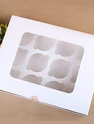 Cupcake Favor Box with 12 Check Cupcake Holder - Set of 6