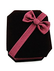 Octagonal Velvet Jewelry Box Paper Box Pendant Necklace Jewelry Gift Box