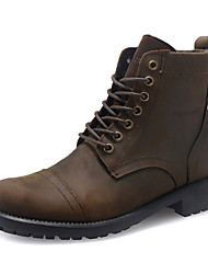 Men's Shoes Outdoor/Casual Leather Boots Brown