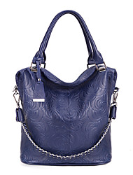 BDXX Women'S Graceful Calfskin Leather Handbag (Blue)