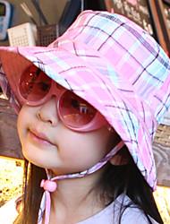 Kocotree Children Fashion Button Grid Cotton Cap (Peach)