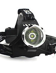 Linternas de Cabeza / Linternas y Lámparas de Camping LED 5 Modo Lumens Cree XM-L T6 Camping/Senderismo/Cuevas / Viaje - Otros , Negro