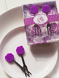 Rose Fruit Fork - Set of 2 Pieces (More Colors)