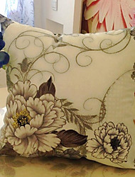 Oriental País Blooming Peony Pillow Decorativo Com Insert