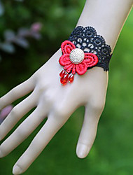 Vampire Style Bloody Butterfly Black Lace Gothic Lolita Bracelet