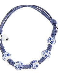 Weinlese-Rope Blau Acryl Frauen Armband