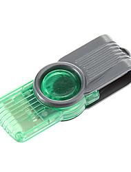 Mini USB Memory Card Reader (Purple/Green/Red)
