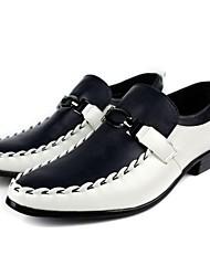 Herren Leder flache Ferse Komfort und Fashion Schnürschuhe Schuhe mit Haspe (Mehr Farbe)