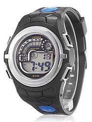 Unisex Multi-Funktions-Legierungs-Kasten-Gummiband-LCD-Digital-Rennen Sport-Armbanduhr (verschiedene Farben)