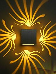 Luce della parete del LED, elegante alluminio di ossidazione (colori assortiti)