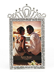 "6""H Traditional Style Crown Metal Picture Frame"