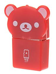 USB 2.0 Memory Card Reader (Rood)