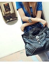 Yidan Portable Skull Leather Handbag