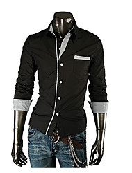 Men's Casual Shirts , Polyester Casual HZLT