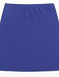 Women's Black/Blue/Gray/Pink/Red/Yellow Skirts , Sexy/Beach/Casual/Cute/Party/Work Above Knee