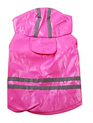 Chien Imperméable Bleu / Rouge Rose Vêtements pour Chien Printemps/Automne Classique