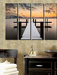 Modern Style Brücke Wanduhr in Canvas 4pcs
