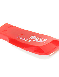 Reader 2.0 Micro SD carte mémoire USB (Rouge)
