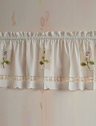 "Country Minimalist Style Floral Pattern Valance (18""L×60""W)"