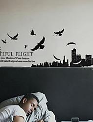 Paisagem Aves do Amor a Torre Eiffel adesivos de parede
