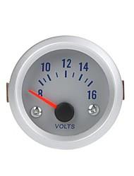 Tensione tester del calibro del voltmetro per Auto Car 2 52 millimetri 8-16V Arancione Luce