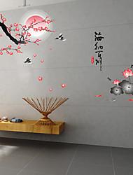 Big DIY Paisagem da mola adesivos de parede