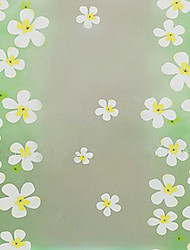 Country Style frais Belle floral blanc Window Film