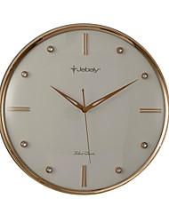 """14.25 """"Horloge Mute mur blanc H style moderne avec la décoration de bijoux"""