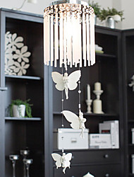 Butterfly Design Flush Mount,1 Light, Creative Iron Glass Electroplating