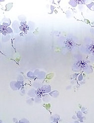 Floral Country Window Film,PVC/Vinyl Material Window Decoration