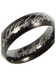 Amazing Titanium Black Unisex Band Rings